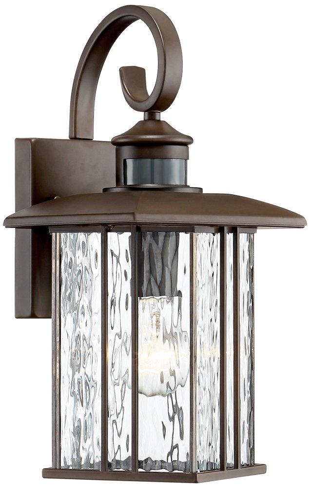 Deaver 15 1/4'' High Bronze Motion Sensor Outdoor Wall Light