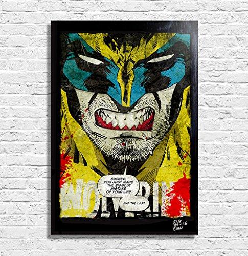 X Men Angry Wolverine Marvel Comics - Pop-Art Original Frame