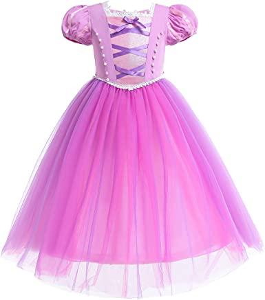 OwlFay Disfraz Rapunzel Niña Vestido de Princesa Sofia Traje de ...