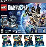 LEGO Dimensions Starter Pack for PlayStation 3 PLUS LEGO Movie Bundle with Emmet 71212, Bad Cop 71213, Benny 71214, and UniKitty 71231