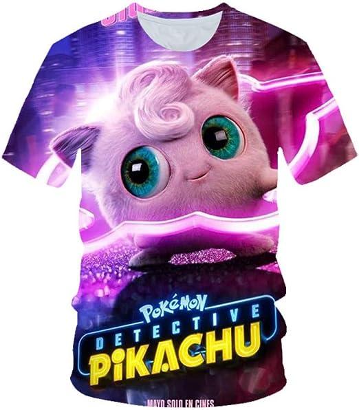 Camisetas, Camiseta Super Linda Pokemon De Verano con Estampado 3Dt Y Manga Corta.: Amazon.es: Ropa y accesorios