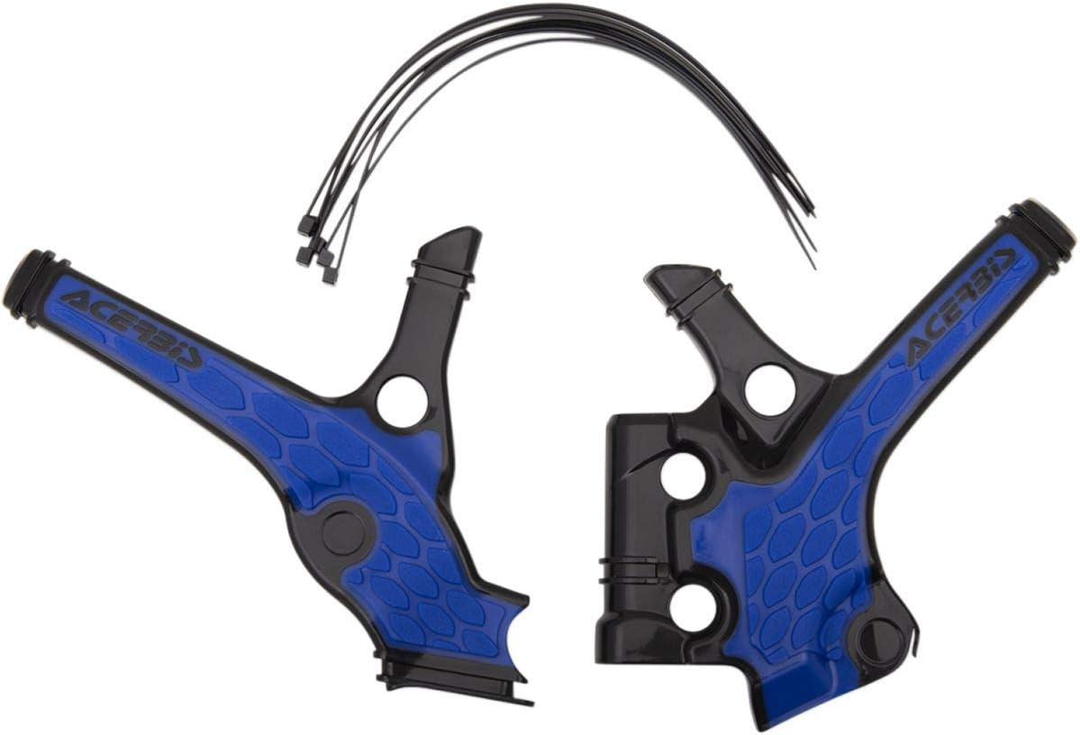 Acerbis 18-20 Yamaha YZ85 X-Grip Frame Guard Black//Blue
