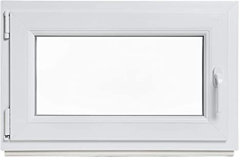 3-fach-Verglasung wei/ß Fenster Kellerfenster DIN links Kunststoff Lagerware BxH: 80 x 80 cm