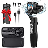 3-Axis Handheld Gimbal Stabilizer for GoPro 8 Action Camera, Splash Proof Wireless Control Gimbal Tripod Stick for Gopro…