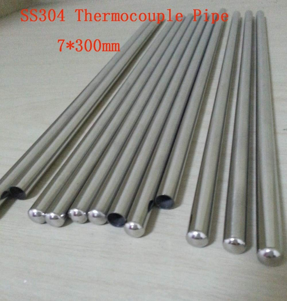 Maslin Customized 7300mm Grade A Quality SS304 One End Closed Stainless Steel Pipes Thermocouple Protection Tube 22 pcs/lot