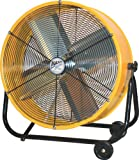 Appliances : MaxxAir BF24TFYELUPS High Velocity Air Movement Two Speed Portable Air Circulator Fan, 24-Inch, Yellow
