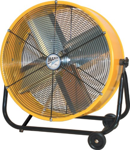 MaxxAir BF24TFYELUPS 24-Inch High Velocity Drum Fan, Two-Speed, Yellow ()