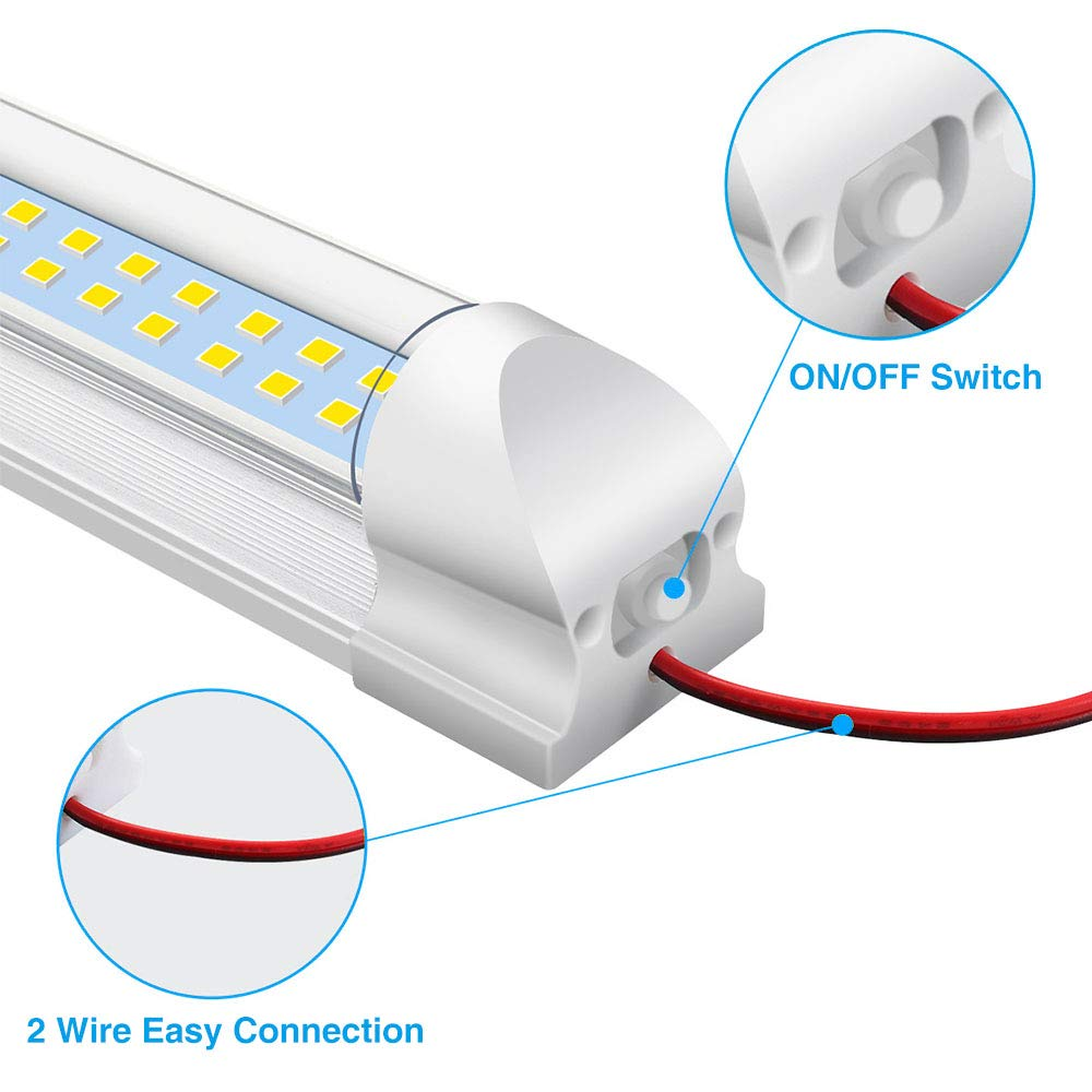 AUDEW 2x 72 LED Innenraumbeleuchtung Auto Lampe Leiste Leuchtstofflampe Innenbeleuchtung DC 12V Schalter Beleuchtung f/ür Wohnwagen Anh/änger Wohnmobil  PKW LKW Zubeh/ör
