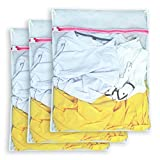 Aimto Set of 3 Mesh Laundry Bags - 3 Large - Premium Quality: Laundry Bag for Blouse, Hosiery, Underwear, Bra and Baby Clothing, Travel Laundry Bag
