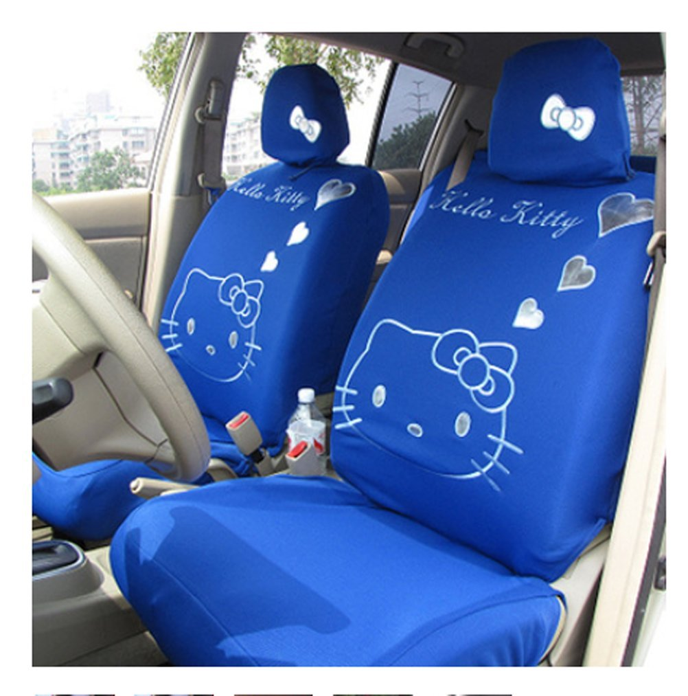 Cartoon Women Lady Five Seats Car Seat Cover 10pcs Auto Car Cushion Front Driver Saddle Seat Cover Car Seat Cushion Supplies (color3) by ww