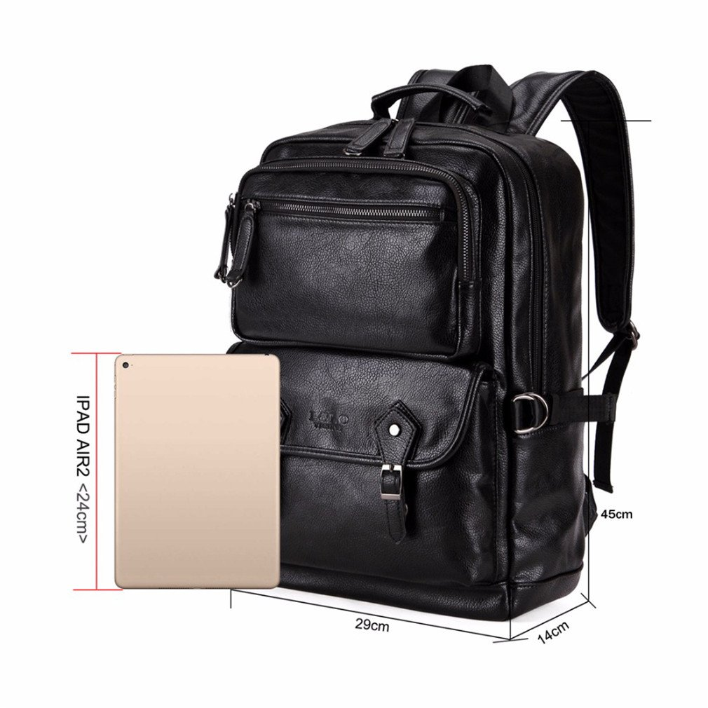 071ab91e964a Amazon.com  UKXMNC Multifunctional Leather Men Backpack Big Men Leather  Travel Backpack Business Laptop Backpack Black  Sports   Outdoors