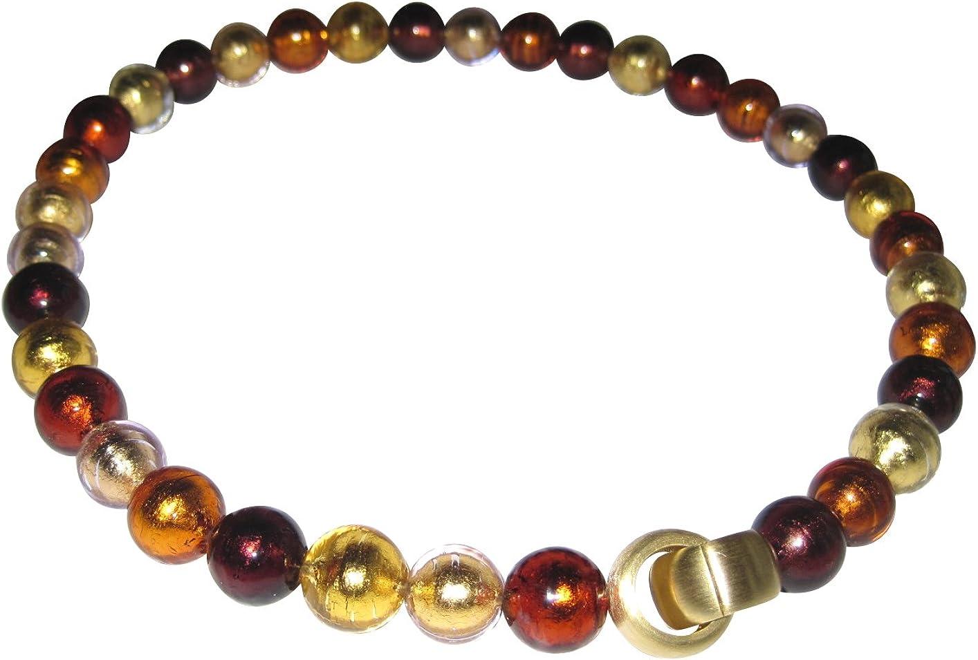 Color Prächtiges, elegante y versátil kombinierbares Collar Amber de pedida Mur Ano Cristal con una alta calidad cierre desplegable de oro plattiertem Plata de ley