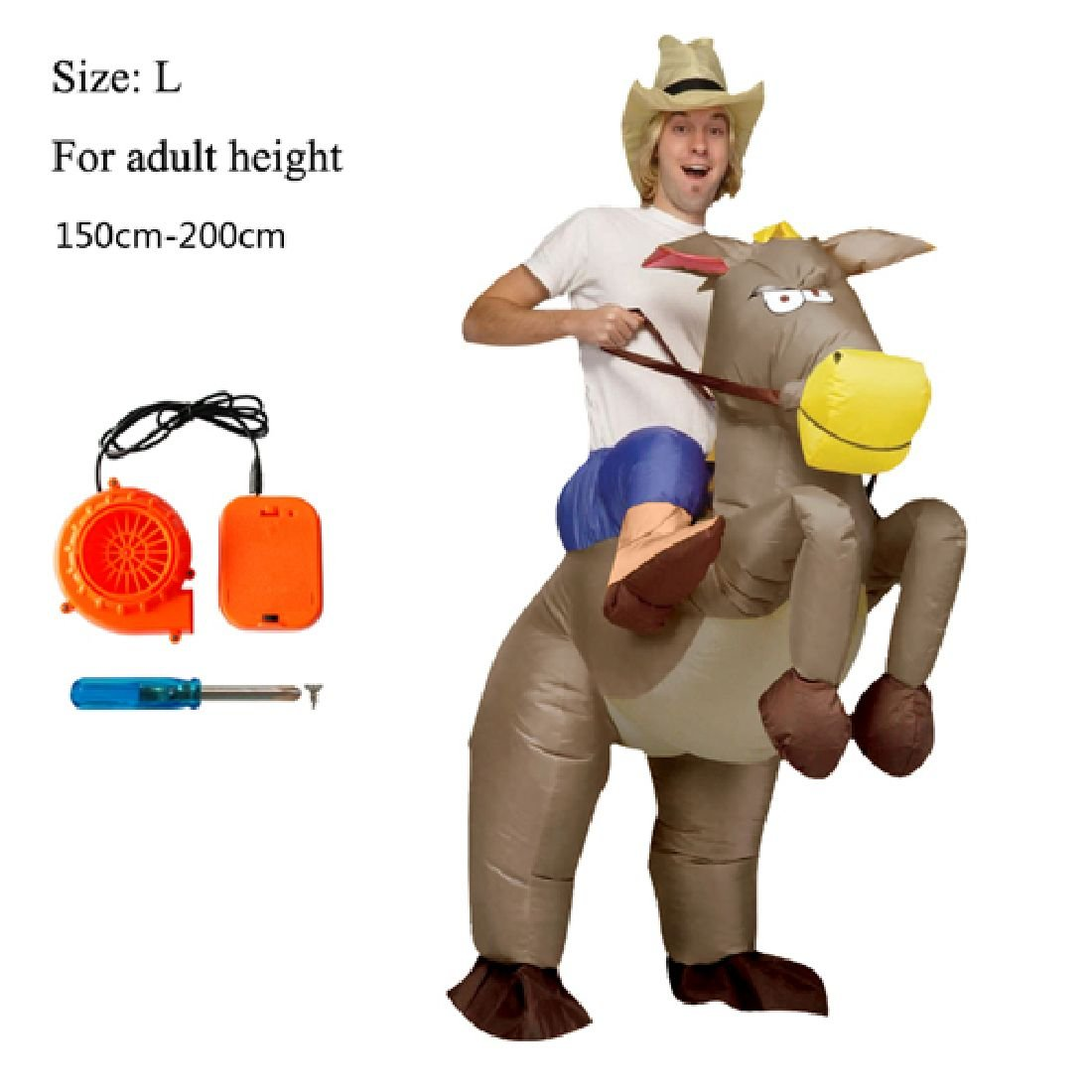 Dinosaur Cowboy Inflatable Funny Party Dress Animal Cosply Halloween Costume