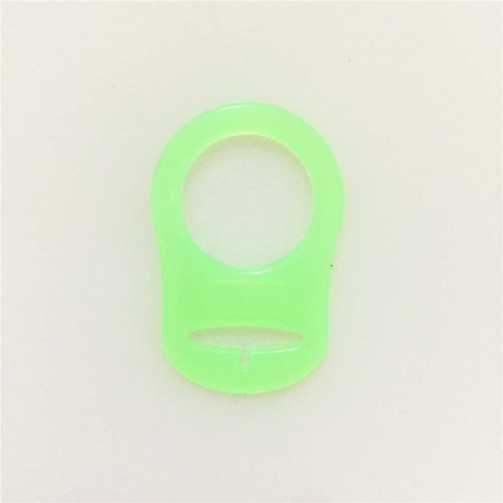 Red Silicone Adapter Ring for Button-style MAM NUK Baby Pacifier Ribbon Clip