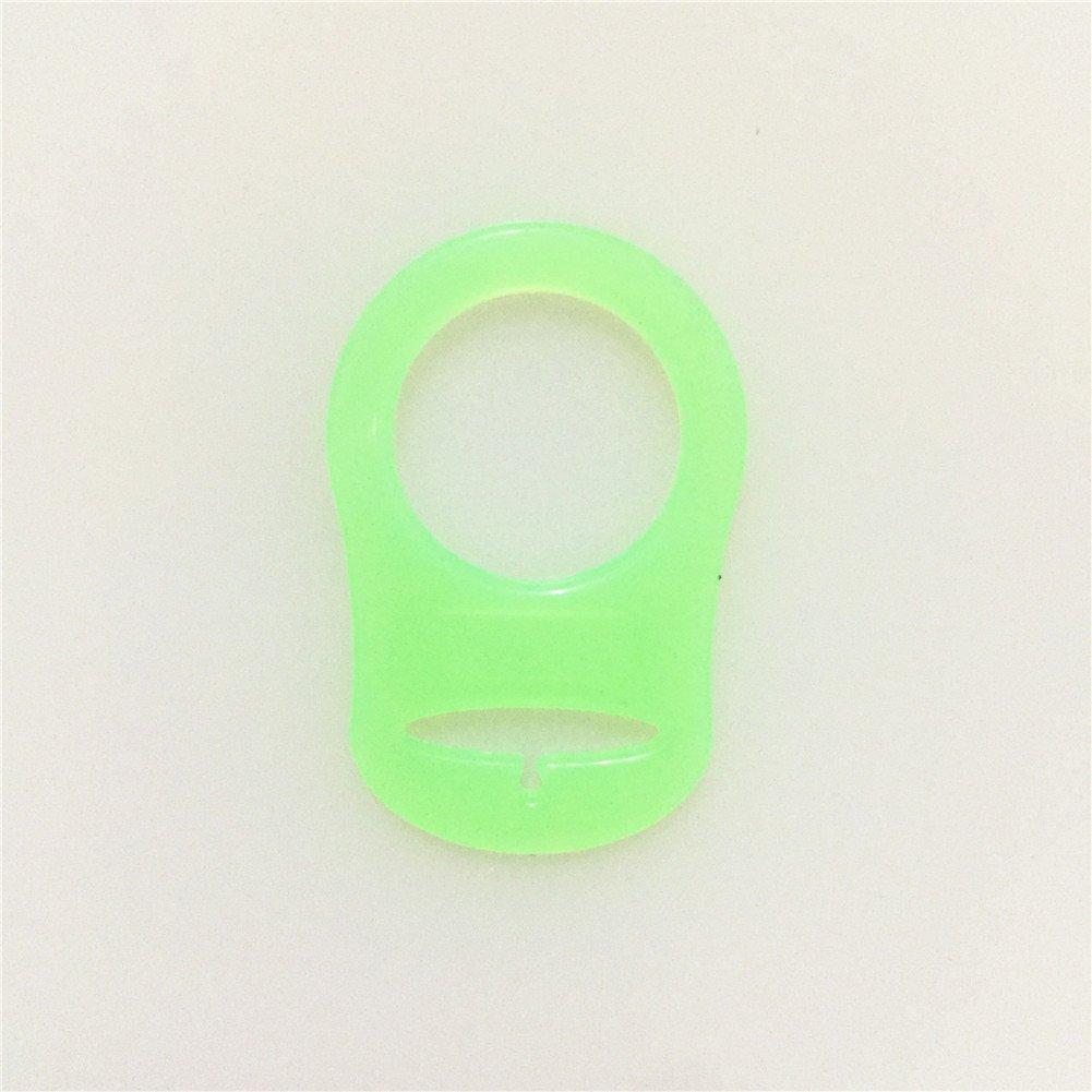 Anillo de Silicona Adaptador para MAM NUK Chupete Bebé (Verde Hierba)