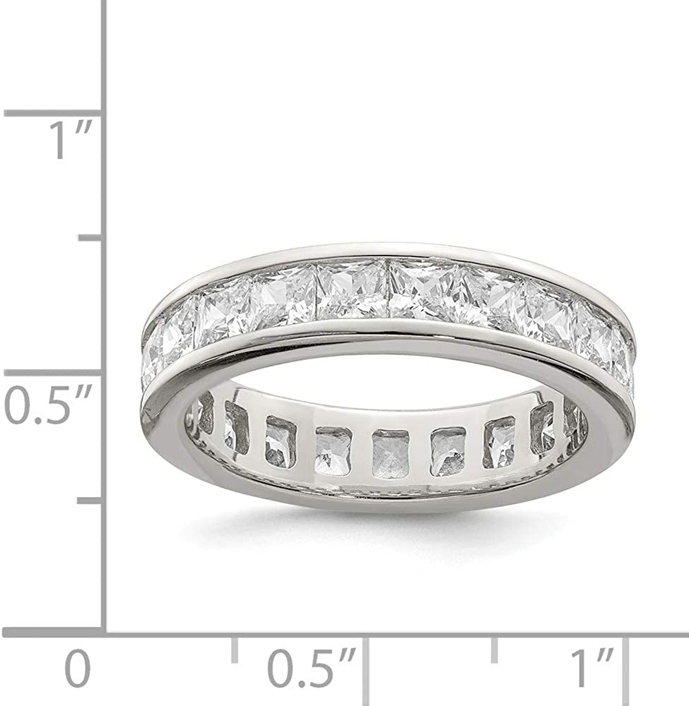 Sterling Silver Eternity Ring 5 mm CZ Eternity Band