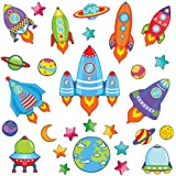 GET STICKING DÉCOR® SPACE WALL STICKERS & ROCKET WALL STICKERS COLLECTION, TheOriginal Rock.16, Glossy Vinyl, Multi Color. (Medium)