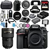 Nikon D7500 DSLR Camera (Body Only) 1581 AF-S 16-35mm f/4G ED VR Lens 2182 + 77mm 3 Piece Filter Kit + 256GB SDXC Card + Card Reader + Professional 160 LED Video Light Studio Series Bundle