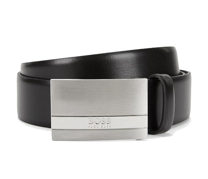 4ba4f777c96 Hugo Boss Men s Belt 100% Cowhide Leather Colour Black  Amazon.co.uk ...