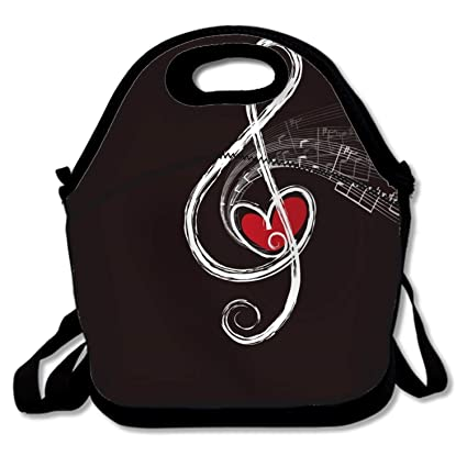 e1631405c9e6 Amazon.com: Music Character Lunch Bag For Kids Lunch Box Food Bag ...