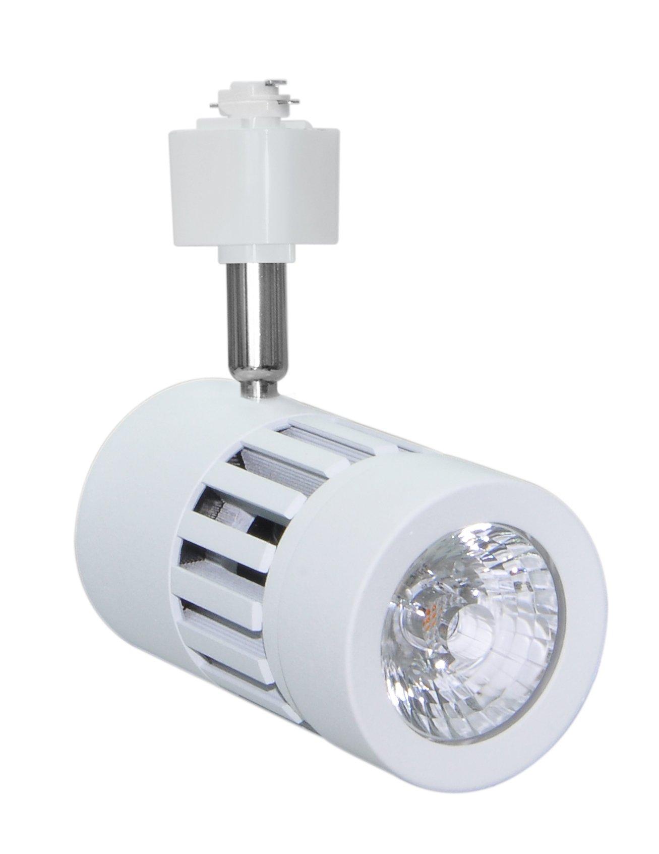 Infinity Green Lighting IG-TR011 9W 3-Wire Round LED H Type Track Head Lighting (White, 5000K)