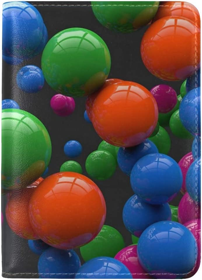 JiaoL Balloons Colorful Bright Leather Passport Holder Cover Case Travel One Pocket