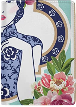 U.s Passport Cover Blue And White Chinese Lady Stylish Pu Leather Travel Accessories Passport Cover For Men For Women Men
