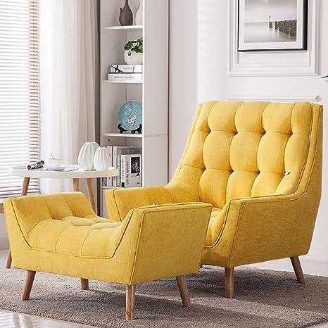 Warmiehomy Modern Linen Fabric Armchair Oversized Fireside