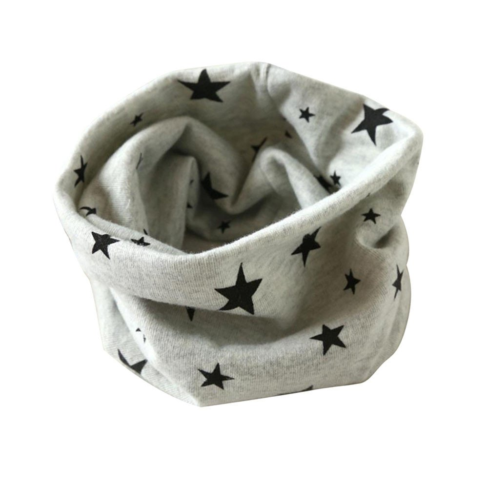 Baby Infinity Scarf, Inkach Toddler Star Print Cotton Winter Warm Shawl Scarves Loop Neck Warmer (Blue) Inkach - Baby Shawl Scarves IN-1