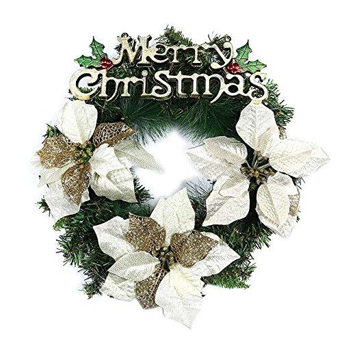 Adealink Christmas Wreaths Ring Pinecone Flower Window Door Hanging Garland Xmas Home Party Decor