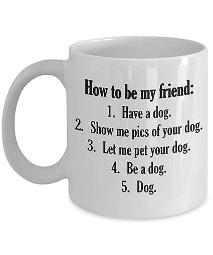 db4ef4dfb32 Amazon.com: Dog Mug - Funny Best Dog Lover Coffee Cup for Dad, Mom ...