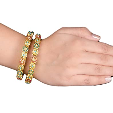 Gold Tone Kundan Stone Traditional Women Wedding Upper Arm Bracelet Jewellery Jewelry & Watches