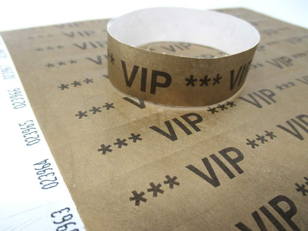 100 Stück Eintrittsbänder Einlassbänder Kontrollbänder Armband goldfarben #1