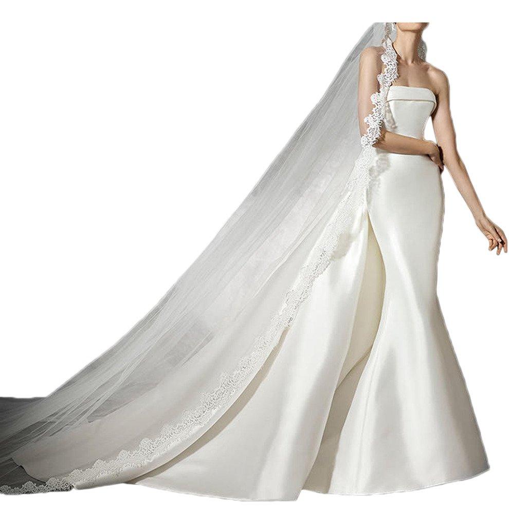 (ウィーン ブライド)Vienna Bride ウェディングドレス 花嫁ドレス ロングドレス タイトドレス サテン 大胆背中開き 超セクシー-9-ホワイトA B01N20YSQ8 27W|ホワイトE ホワイトE 27W