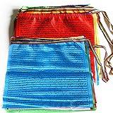 Prayer Flags Tibetan Buddhist Wind Horse Lungta Prayer Flag 10 x 11 inches Indoor Outdoor Satin Prayer Flags,60pcs