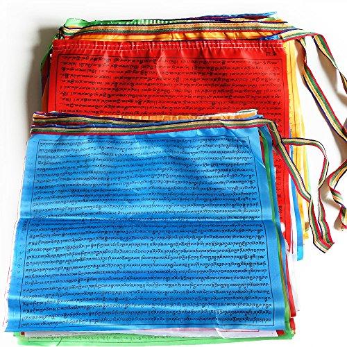 (Prayer Flags Tibetan Buddhist Wind Horse Lungta Prayer Flag 10 x 11 inches Indoor Outdoor Satin Prayer Flags,60pcs)
