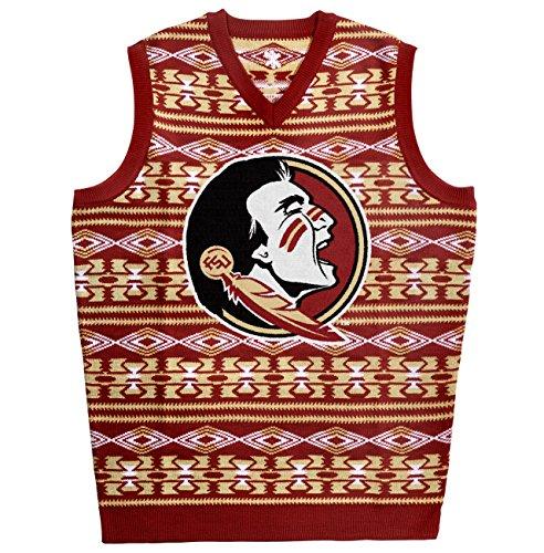 Florida State Aztec Print Ugly Sweater Vest Medium