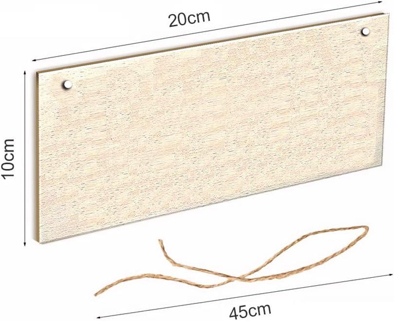 Nargut Plaque carr/ée en bois /à suspendre pour poulailler