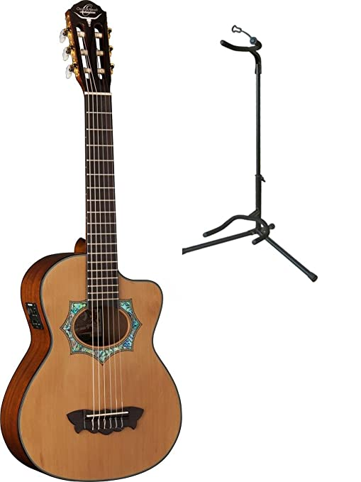 Oscar Schmidt bolsa para guitarra acústica/eléctrica Requinto W/funda y soporte, oh30sce
