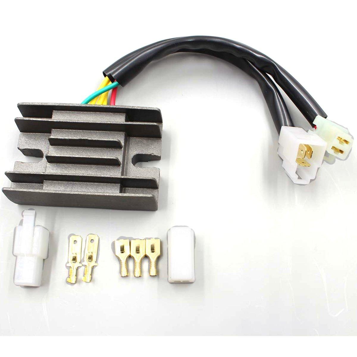 Voltage Regulator Rectifier For Arctic Cat 300 2x4 1998-2001, Arctic Cat 300 4x4 1998-2001 , Arctic Cat 250 2x4 1999-2003 , Suzuki GN125 1982-1997, Suzuki GZ250 1999-2010 by Amhousejoy RUIANQIFENG