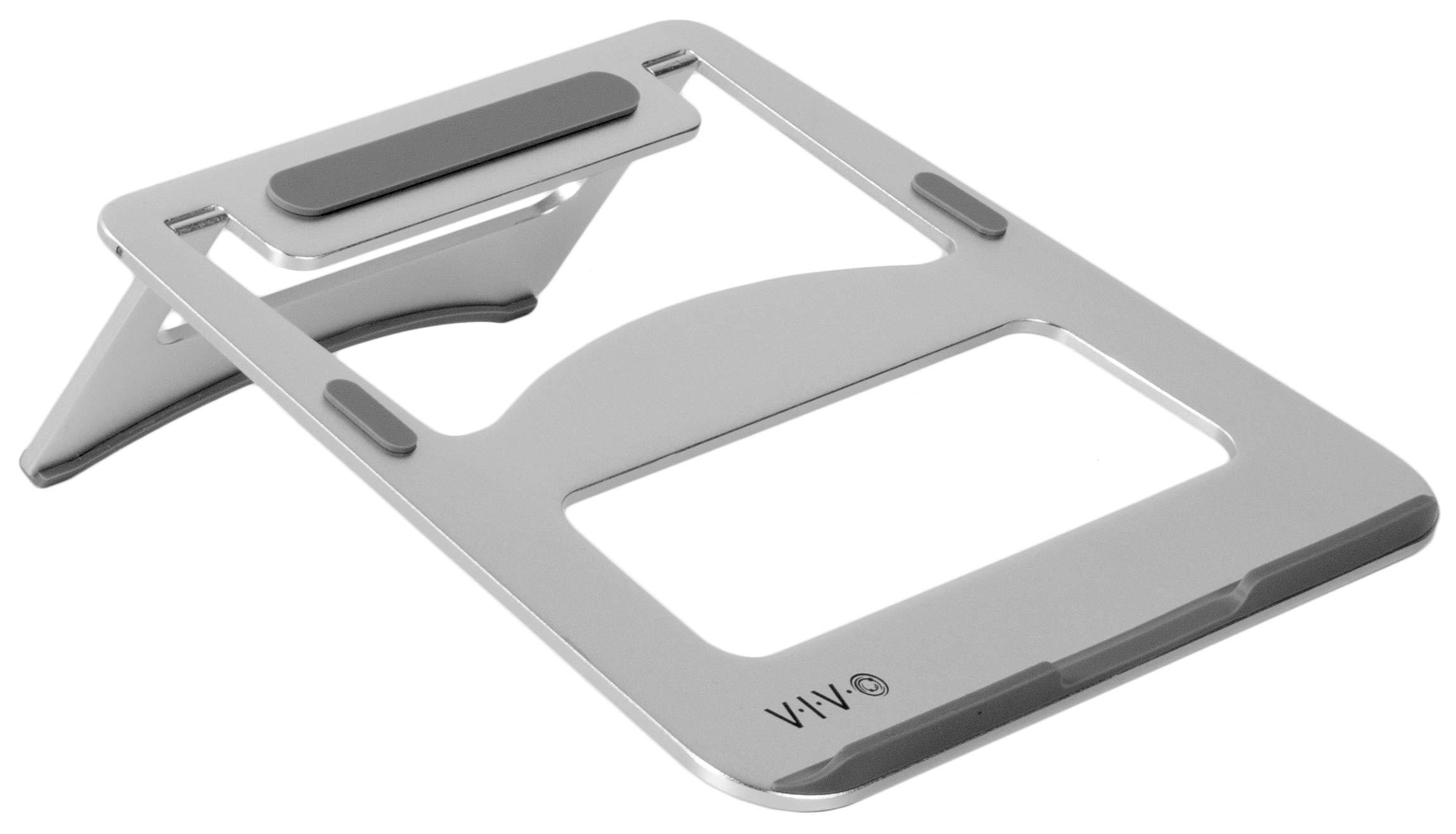 "VIVO Aluminum Portable Folding Ultra-Slim Laptop Notebook Desk Stand | Ergonomic Tilting Tablet Riser for Screens up to 15"" (STAND-V000J)"