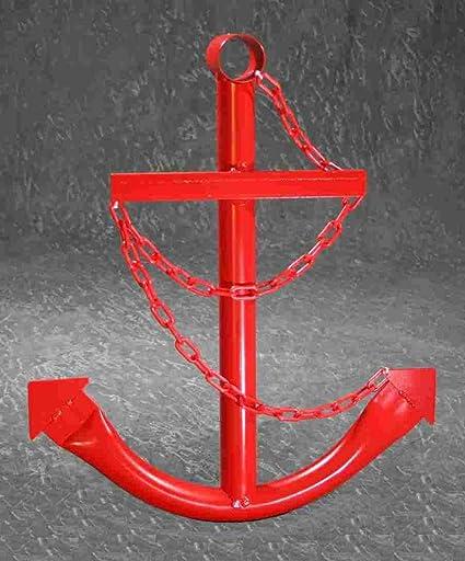 Amazon.com: Red Anchor Wall Decor 3\' Metal Nautical Navy Boat ...