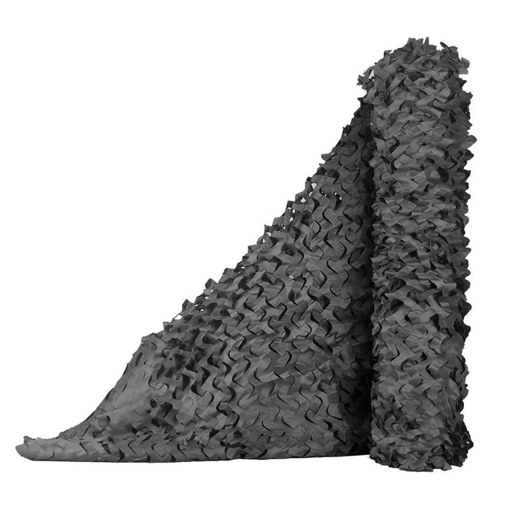 88M(26.226.2ft) ZhHOME Filet de Camouflage, Dense et Robuste, ajout de Filet de Renfort, Convient à l'ombre extérieure du Camping Camouflage et décoration de Jardin (Plusieurs Tailles Disponibles, Couleur Noire)