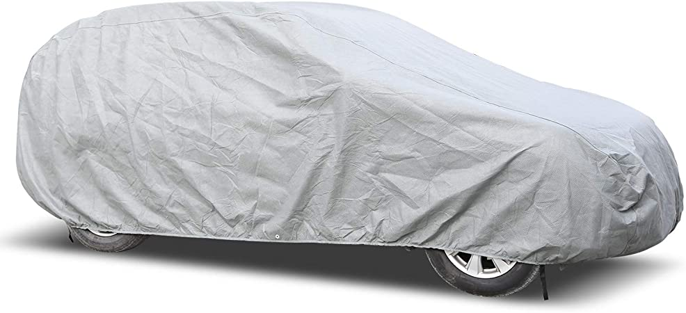 Arch Motoring SUV Car Cover 3 Layer Dustproof Windproof UV Protection Breathable Jeep Car Cover Fit Up to 189