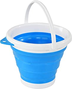 HOME-X Collapsible Bucket, Portable Bucket for Cleaning, Plastic Bucket for Outdoor or Indoor Use, 10