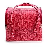 AllRight Make Up Box Beauty Cosmetic Case Make Up Bag Storage Pink Patent