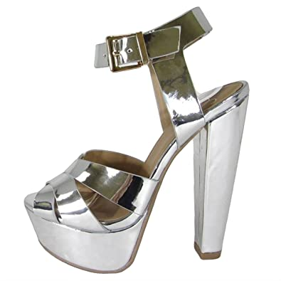2fb7f095806f Delicious Women s Open Toe Thick Wide Strap Ankle Strap Block Heel Sandal