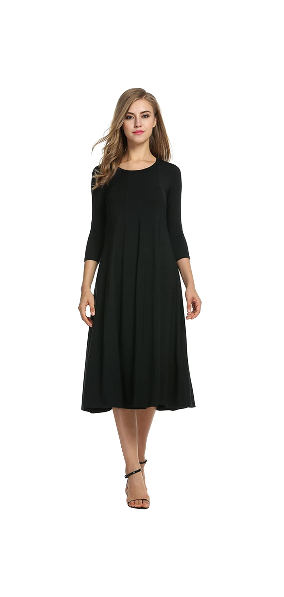 Women's / Sleeve A-line And Flare Midi Long Dress