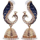 Weiy Bohemian Ethnic Style Indian Peacock Pendant Drop Earrings Fashion Vintage Charming Elegant Stud Earrings Jewelry Gift F