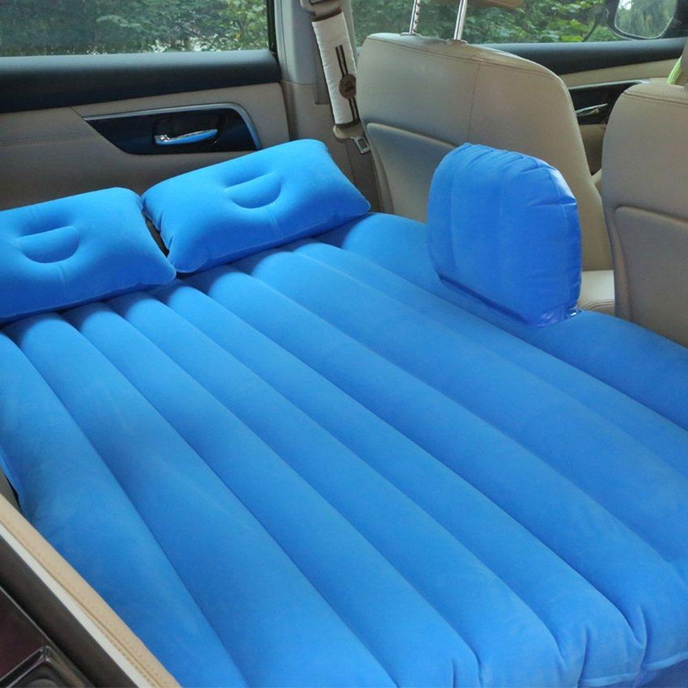 YQQ Tragbar Camping Aufblasbares Kissen Selbstfahrendes Reisebett Auto Aufblasbares Bett Im Freien Kampieren Luftmatratze (Farbe : Blau)